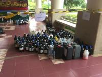 Thaksin University collected and delivered various types of hazardous waste from campus